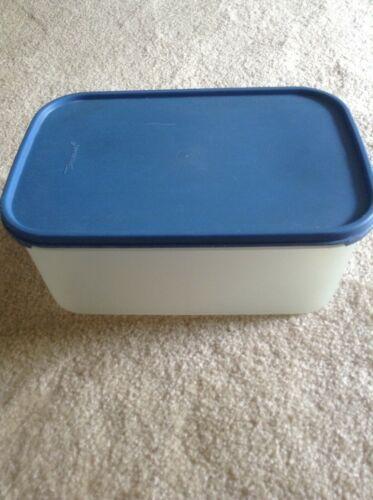 Tupperware Modular Mates #2 Rectangular Sheer Container #1609 Blue Seal #1610