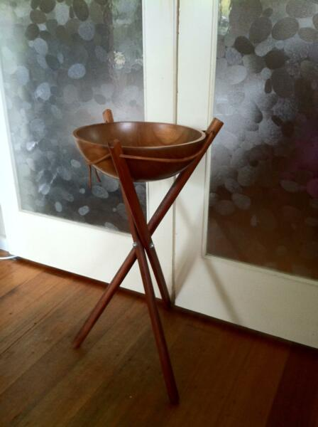 Wooden Salad Bowl With Stand 32cm Wooden Salad Bowl