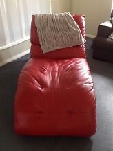 Red leather look chaise chair Port Macquarie 2444 Port Macquarie City Preview