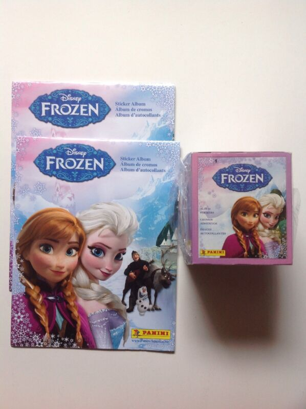2013 Panini Disney Frozen Stickers 2x Albums New Factory Sealed Box Of 50 Packs