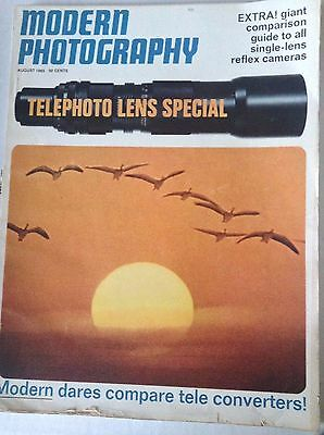 Modern Photography Magazine Telephoto Lens Special August 1965  082617nonrh