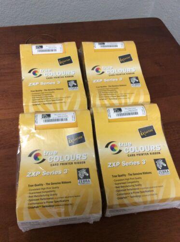 LOT OF 4-Genuine Zebra ZXP Series 3 Card Printer Ribbon 800033-801