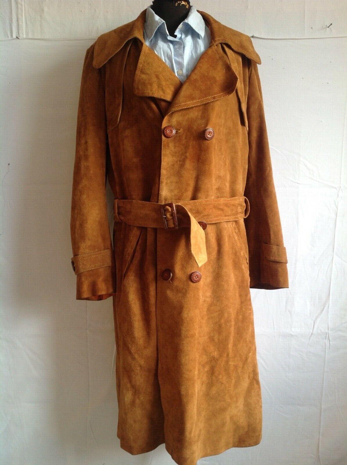 trench / manteau femme _ en cuir_ marron _t48