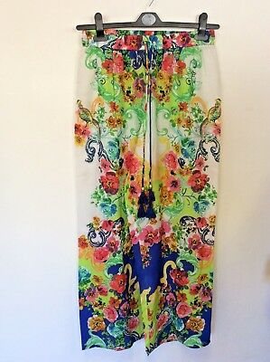 JETS BY JESSIKA ALLEN MULTI COLOURED FLORAL PRINT PILAGIO PANTS ONE SIZE