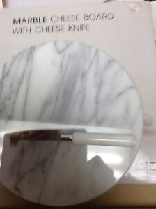 MARBLE CHEESE BOARD & KNIFE