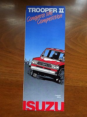 1985 1986 ISUZU TROOPER II SALES BROCHURE, ORIGINAL