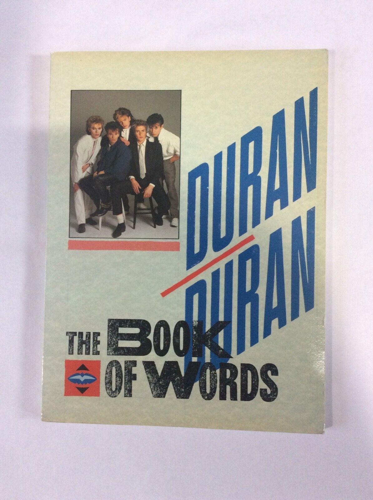 Duran Duran Book Of Words - $19.00