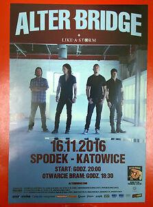 ALTER BRIDGE - LIVE IN KATOWICE - Polish promo FLYER - <span itemprop=availableAtOrFrom>Gdynia, Polska</span> - ALTER BRIDGE - LIVE IN KATOWICE - Polish promo FLYER - Gdynia, Polska