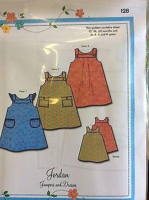 BONNIE BLUE DESIGNS # 128 JORDAN-JUMPERS /& DRESSES-SIZE 12,18,24 MO /& 3-6 YEARS