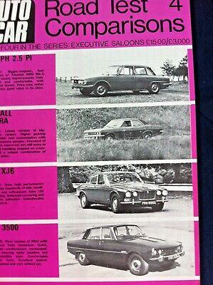 AUTOCAR ROAD TEST COMPARISONS 1969 -TRIUMPH 2.5, VENTORA, XJ6, ROVER 3500