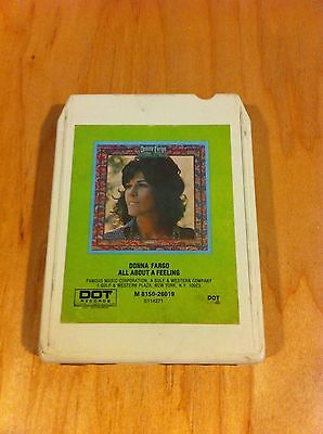 DONNA FARGO ALL ABOUT A FEELING ~8 Track Tape