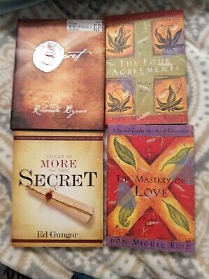 LOT OF 4 PAPERBACK BOOKS BY BEST SELLING AUTHORS-Don Miguel Ruiz/Gungor/Byrne