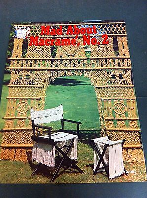 70's Vintage Mad About Macrame, No. 2 Instruction Pattern Craft Book