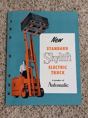 1960s Automatic Skylift Electric Truck Fork Lift Sales Handout