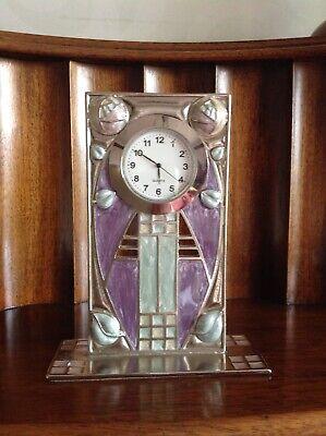 Mackintosh Inspired Enamel Clock
