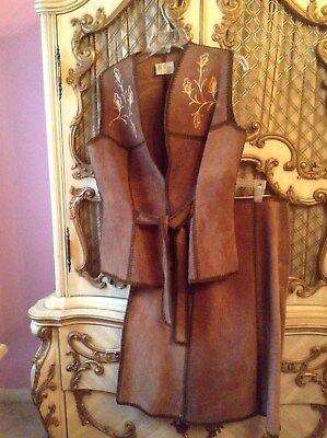 Lebun Florida 1055 Buenos Aires 2 piece suede  skirt/vest suit