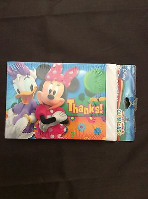 Minnie Mouse Party Supplies-Minnnie and Daisy Duck thank you notes-8ct. Daisy Party Animal