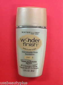 Maybelline Wonder Finish Liquid-to-Powder Foundation Porcelain Ivory (Light-1).