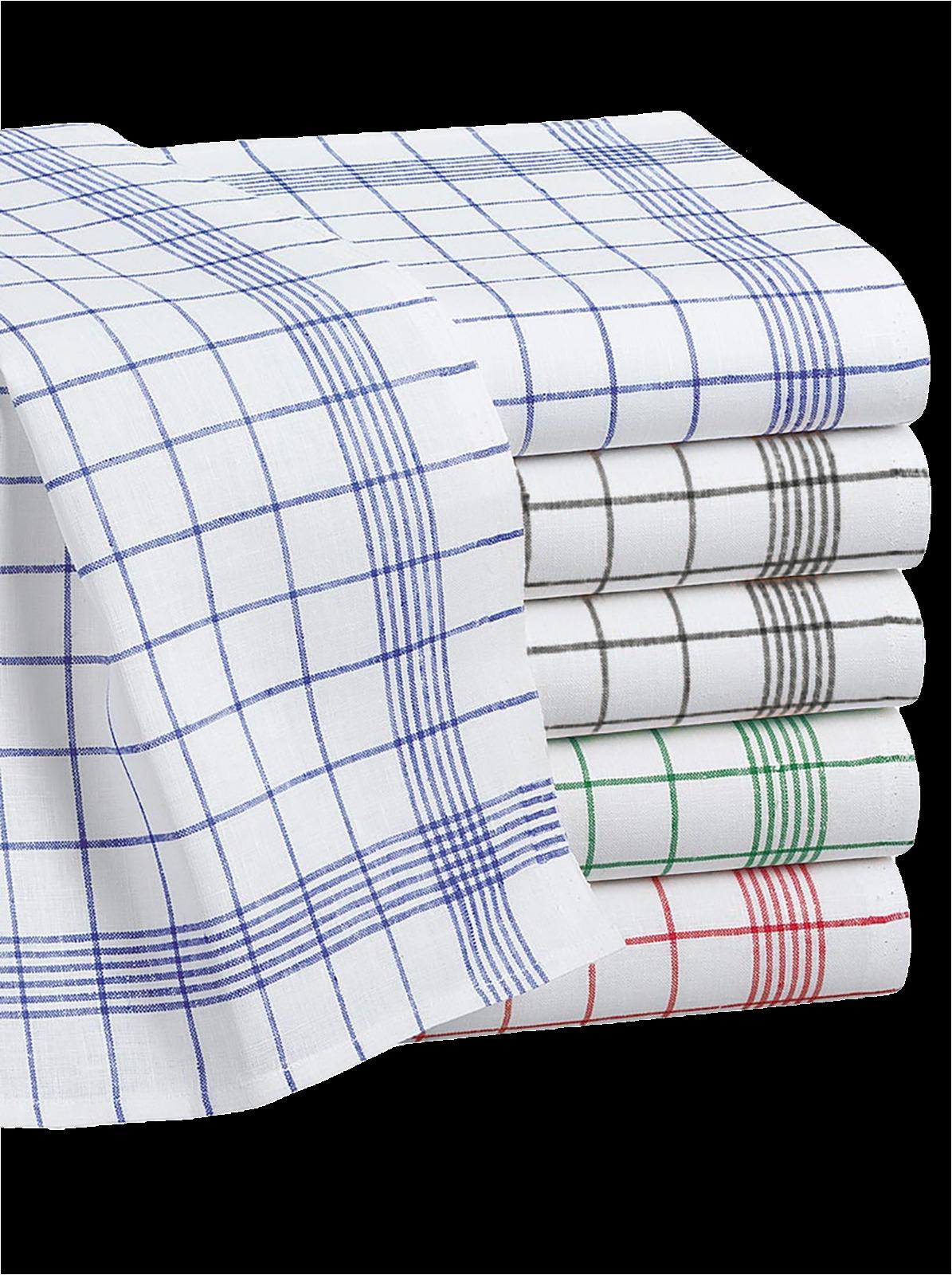 Set Geschirrtücher im 10er Pack, versch. Farben, 100% Baumwolle, 50x70 cm, 60g