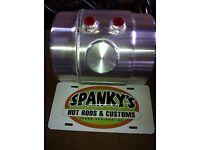 """33x10 11 Gallon End Fill Spun Aluminum Gas Tank Offset Outlet 1//4/"""" NPT 33/"""" x 10/"""""""