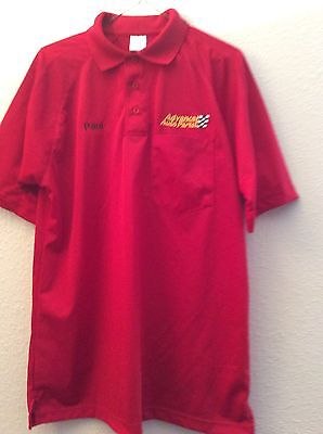 Advance Auto Parts Employee Red Polo Shirt Size M  Arm Pit To Arm Pit 22