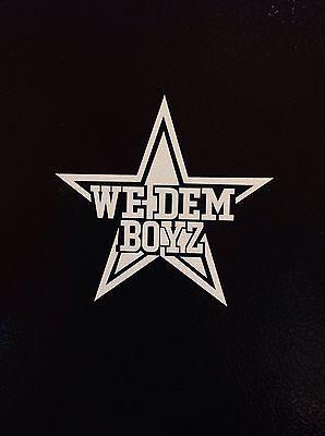 2x NFL Dallas Cowboys WE DEM BOYZ Vinyl Decal for Truck Car Window Sticker  - Dallas Cowboys Window Decal
