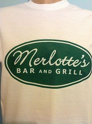 True Blood Merlottes Bar (MERLOTTES Bar & Grill, True Blood, Ladies & mens White T Shirt Sizes S - XL )