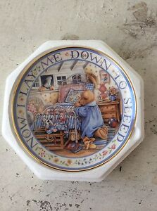 """Royal Doulton Franklin Mint """"Teddy says his Prayers"""" Collector Plate New Farm Brisbane North East Preview"""