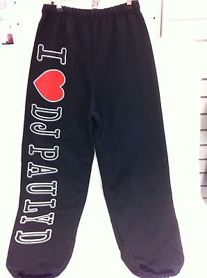 Jersey Shore I Love Heart Dj Pauly D Tracksuit Pants Trackies Italian Small New