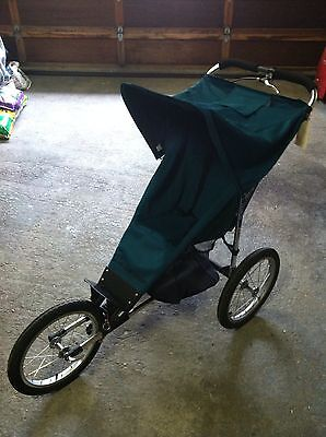 Baby Jogger II -16  Blue Single Jogging Stroller Canopy Liteweight Aluminum Mint on Rummage