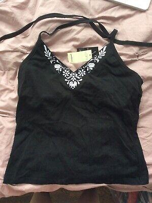 Vintage LOFT Halter Top Camisole Shirt with Built In Bra One Size (Medium) 90s
