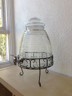 3x 9L Beehive Glass Drink Dispensers with Black Iron Stand Erskineville Inner Sydney Preview