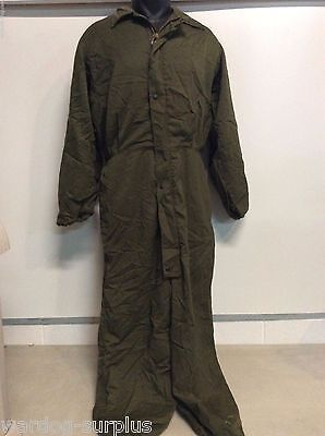 US MILITARY MECHANICS COLD WEATHER COVERALLS OVERALLS HALF ZIP SNAP SMALL (Military Coveralls Overalls)