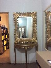 Gold entry mirror&console Mount Lewis Bankstown Area Preview