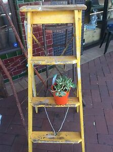 Vintage wooden ladder wedding decor rustic Maylands Bayswater Area Preview