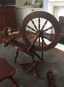 Elizabethan Ashford Spinning wheel and chair Johns River Greater Taree Area Preview