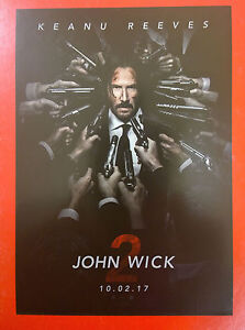 KEANU REEVES - John Wick Chapter Two - Polish promo FLYER - <span itemprop=availableAtOrFrom>Gdynia, Polska</span> - KEANU REEVES - John Wick Chapter Two - Polish promo FLYER - Gdynia, Polska