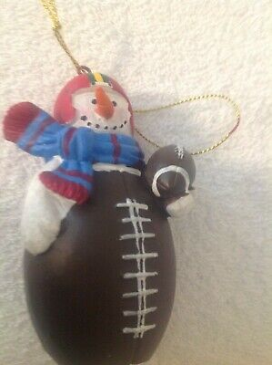 Christmas Tree Ornament, Snowman, Football Theme