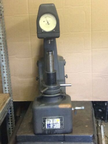 Wilson Rockwell Hardness Tester 3JR w/ Weights, Tested/Works, missing 50# weight