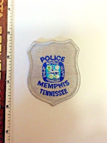 Memphis Tennessee Silver Police Shield shaped Patch New