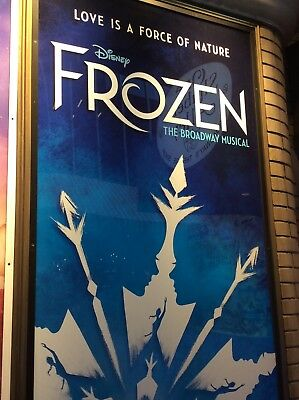 DISNEY FROZEN BROADWAY NEW YORK MUSICAL PLAYBILL 2018 ST JAMES THEATRE PRE-SALE