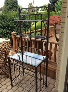 Kitchen or Hall table with wine rack
