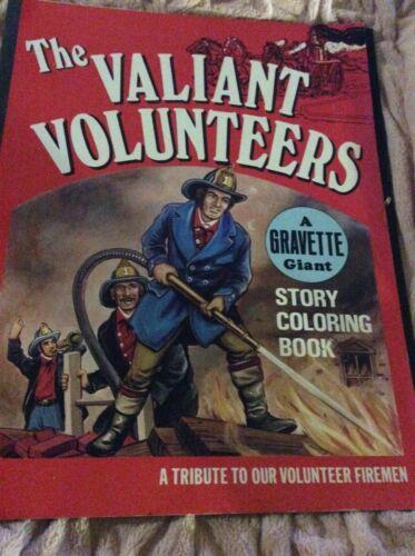 VTG*TRIBUTE TO OUR VOLUNTEER FIREMAN*THE VALIANT VOLUNTEERS* COLORING BOOK-1976