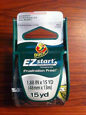 1 Roll Clear Duck Ez Start Packing Duct Tape With Dispenser 1.88 X 15 Yd