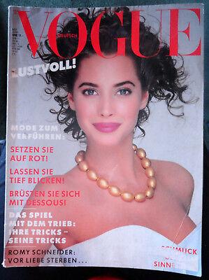 Vtg Vogue Deutsch 6/1987 Christy Turlington Stephanie Seymour Linda Evangelista