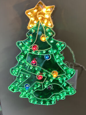 Vintage Noma 100 Light Holographic Tree Indoor/Outdoor Christmas Decoration