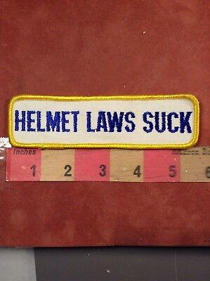 Vtg Anti-Helmet Law Motorcycle / Biker Patch Helmet Laws Suck - Helmet Laws Suck Patch