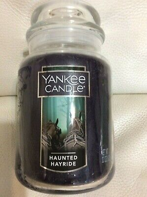 Yankee Candle Haunted Hayride Large Jar 22oz NEW Fast Free Ship! Halloween