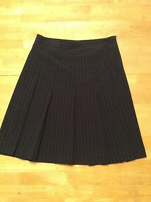 VILLAGER Liz Claiborne Company Black White Pleated SKIRT Stretch size 6](Party Co Costumes)