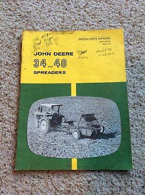 1960s John Deere original 34 and 40 spreaders,  owners manual